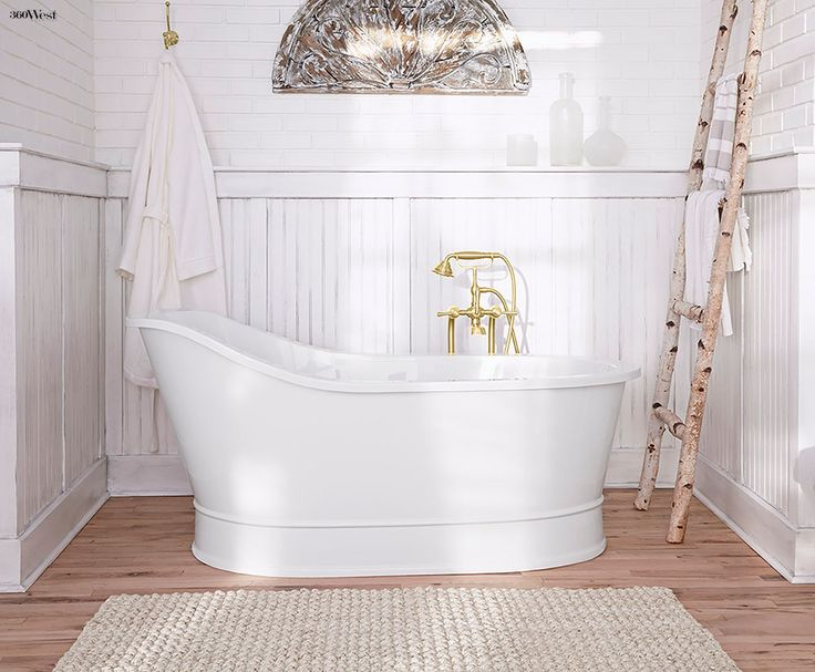 DXV Oak Hill Slipper Tub Borrows From American Farmhouse Design With Contemporary Touches 360 West Magazine July 2015