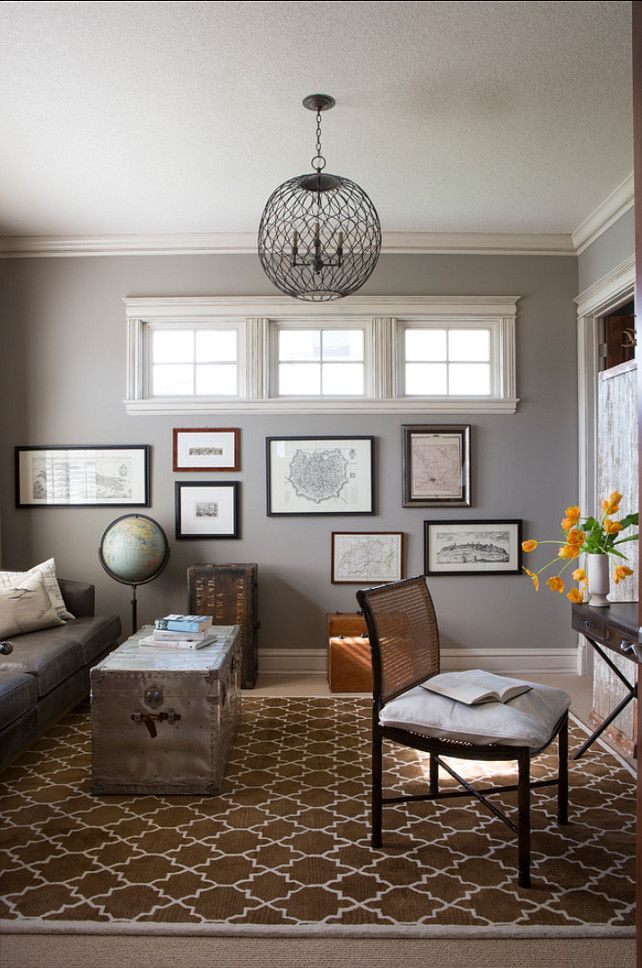 """Sherwin Williams Paint Color. """"Sherwin Williams Dorian Gray SW 7017"""". #SherwinWilliams #DorianGray #SW7017 R. Cartwright Design. Heidi Zeiger Photography."""