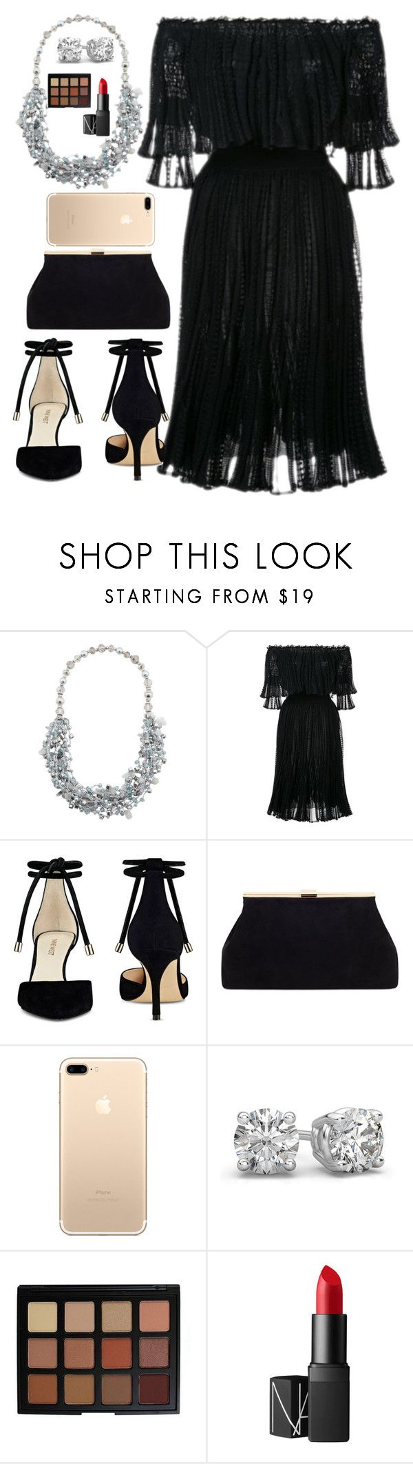 """chains by nick jonas"" by partymileys ❤ liked on Polyvore featuring Alexander McQueen, Nine West, Morphe and NARS Cosmetics"
