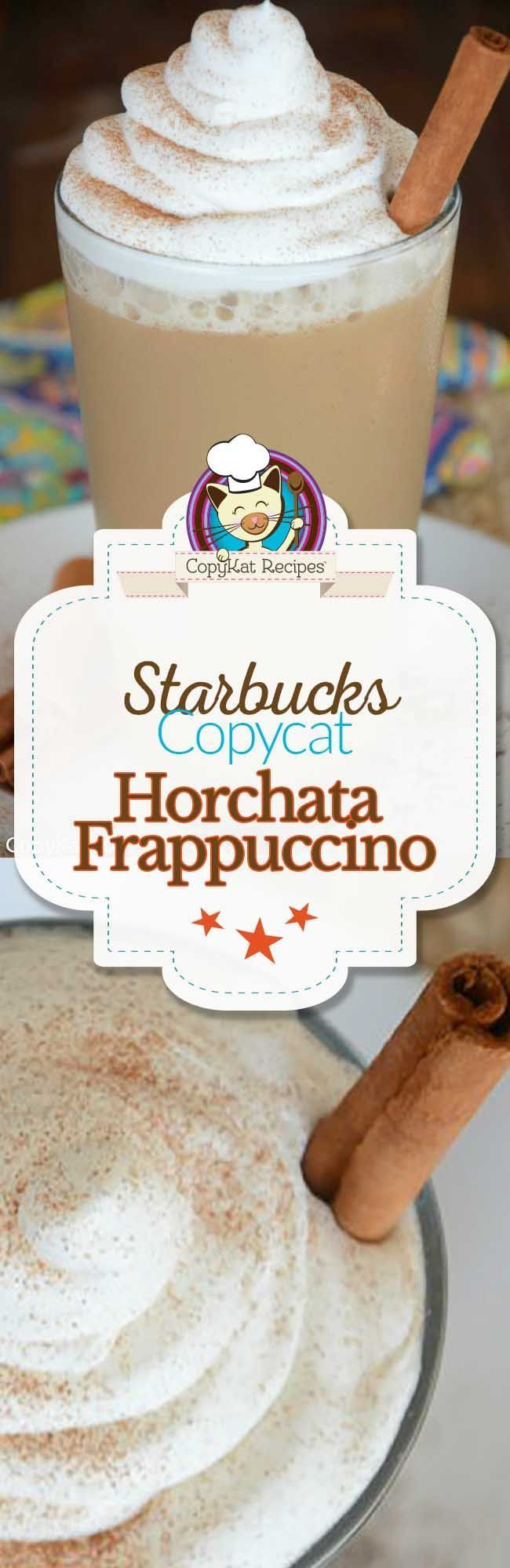 You can recreate the Starbucks Horchata Frappuccino at home with this easy copycat recipe.