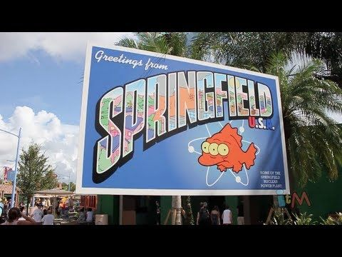 The Simpsons Springfield full walking tour in completed expansion at Universal Orlando - YouTube