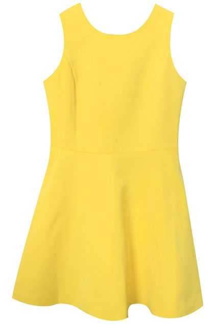 Hollow Back Skinny Yellow Dress