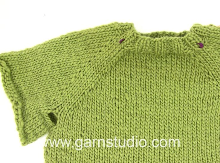 How to work a jumper top down - knitting YO, and on the next row a YO twisted to avoid hole. YouTube.