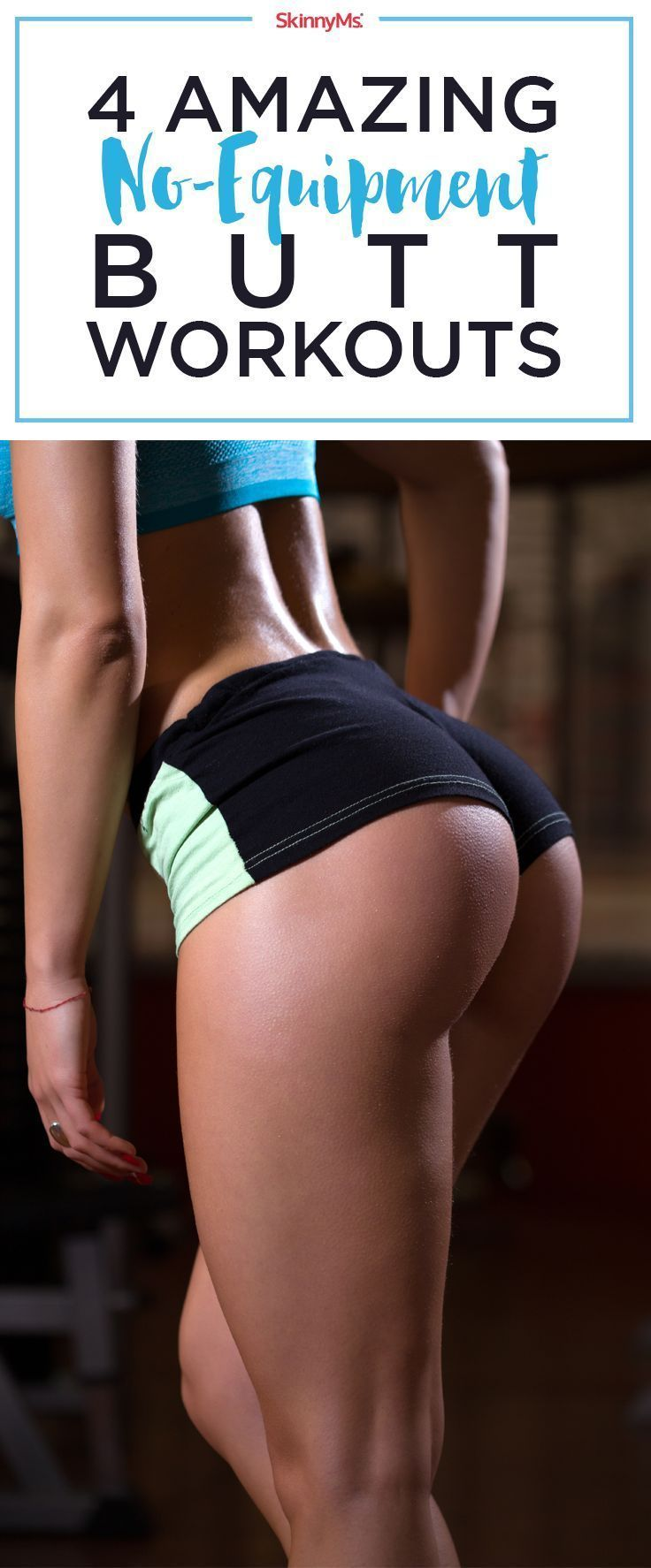 Tone and Tighten your butt with these 4 Amazing No-Equipment Butt Workouts!