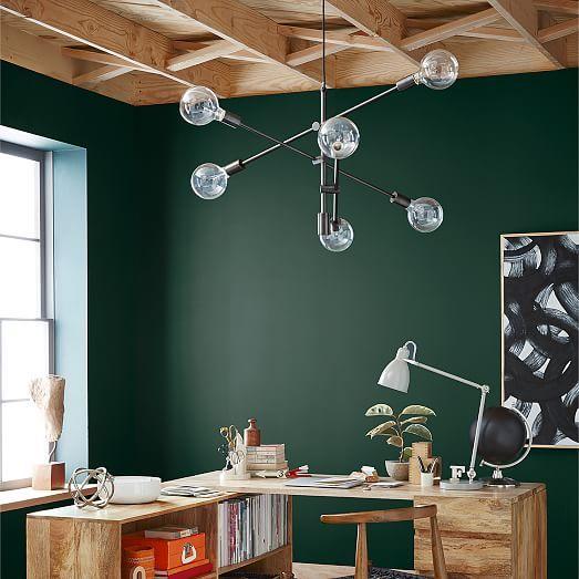 Frameless Oversized Round Mirror During ChandelierPendant LightsRoom LightsDining Room TablesWest ElmLight