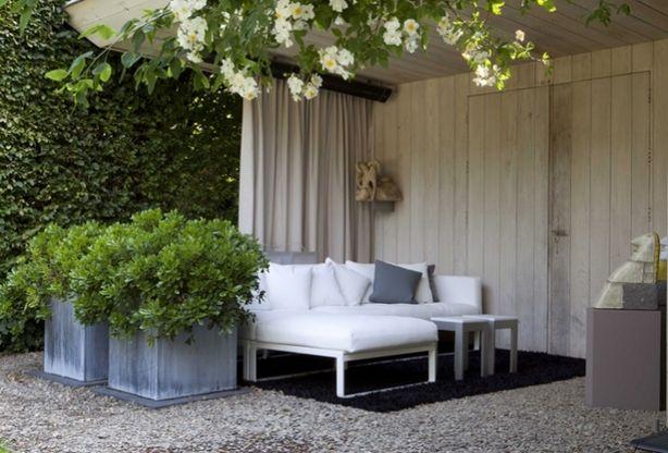 25 beste idee n over veranda gordijnen op pinterest tuingordijnen afgeschutte veranda - Gordijnen voor overdekt terras ...