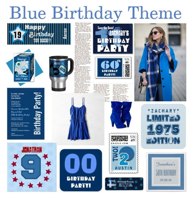 """Blue Birthday Theme"" by jaclinartfan301 ❤ liked on Polyvore featuring art"