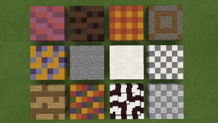 A selection of blocks that blend well together to make beautiful patterns on your soil | Minecraft floor designs - Google-haku