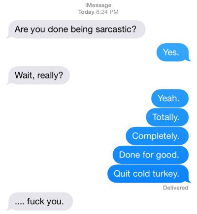 This seems like a conversation between Maxwell and Wisty (Wisty being the sarcastic one).