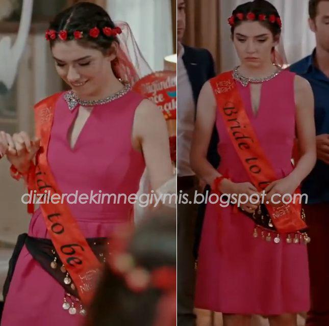 Medcezir - Eylül (Hazar Ergüçlü), Pink Dress
