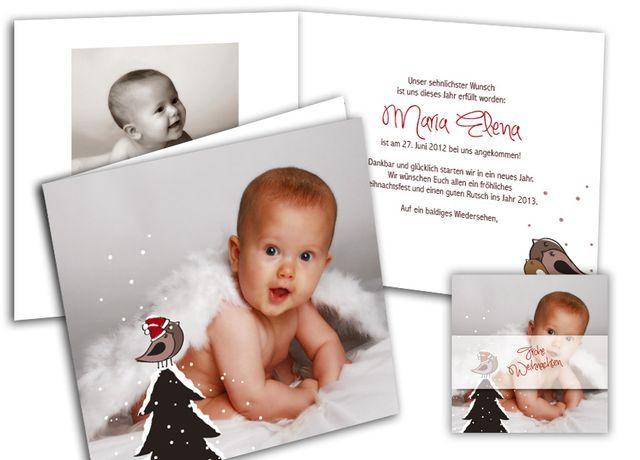 Geburtsanzeige+und+Weihnachtenkarte+-+schöne+Kombination