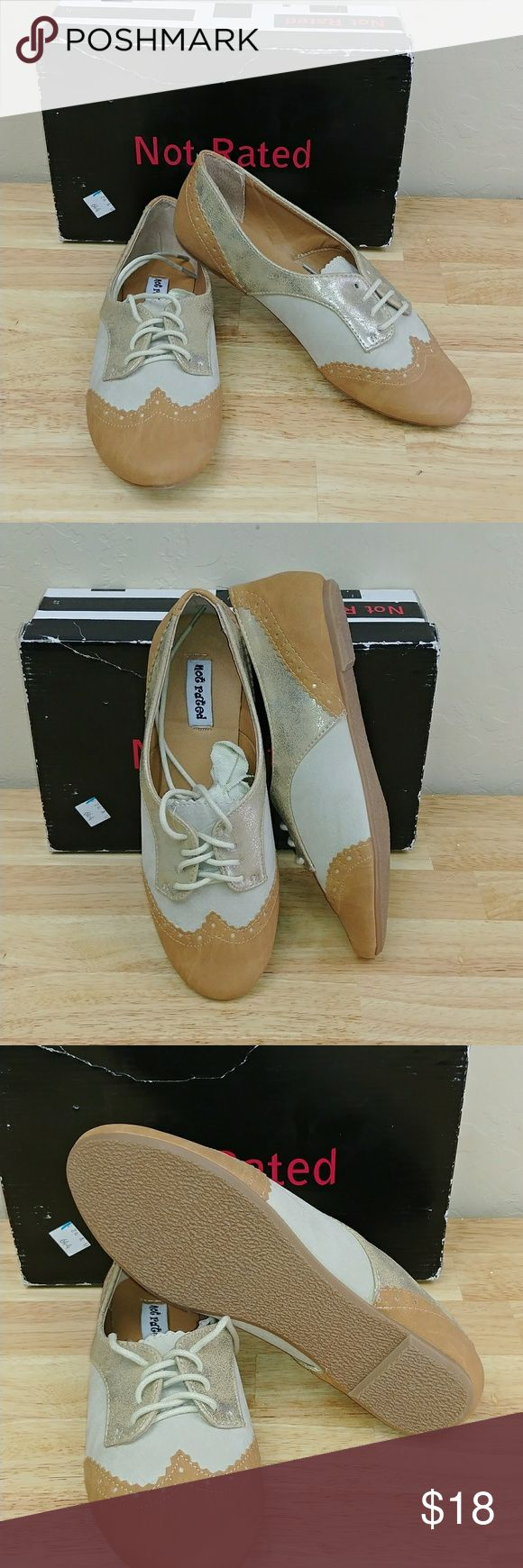 Not Rated women's party pops Oxford shoe NWT