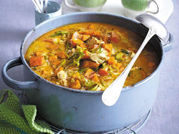 Silvesterparty - tolle Rezepte für den Jahreswechsel - curry-haehnchen-eintopf  Rezept