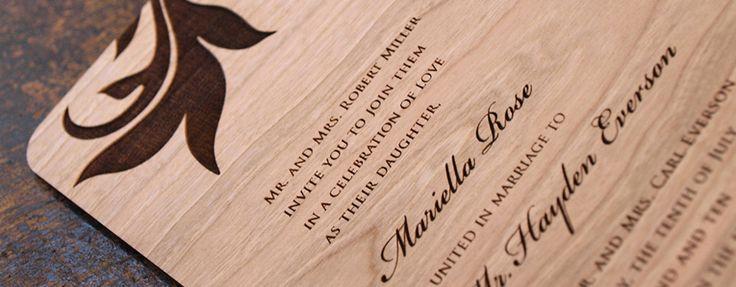Laser Cut Wood Wedding Invitations: Best 25+ Wood Invitation Ideas On Pinterest