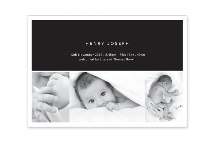 Baby Announcement Card