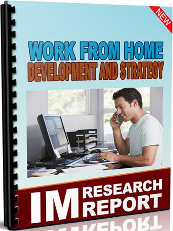 "Working from Home Development And Strategy  Internet Marketing MRR report ""Working from Home Development And Strategy"" includes the following info & links for Keyword:   Analysis for ""Working from Home"", 100 Blog Posts about ""Working from Home"", 17 Forum Posts about ""Working from Home"", 50 YouTube Videos about ""Working from Home"" and  30 Paid Products/ Courses about ""Working from Home"" www.persiabooks.org"