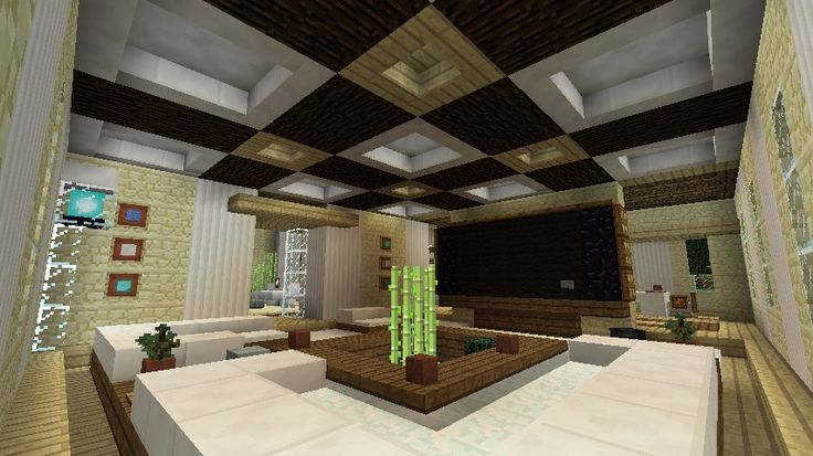 Minecraft furniture inspirations home design for Minecraft house interior living room