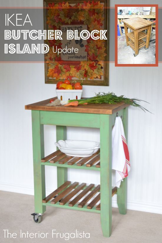 Adding Some Rustic Charm To An IKEA Butcher Block Island.