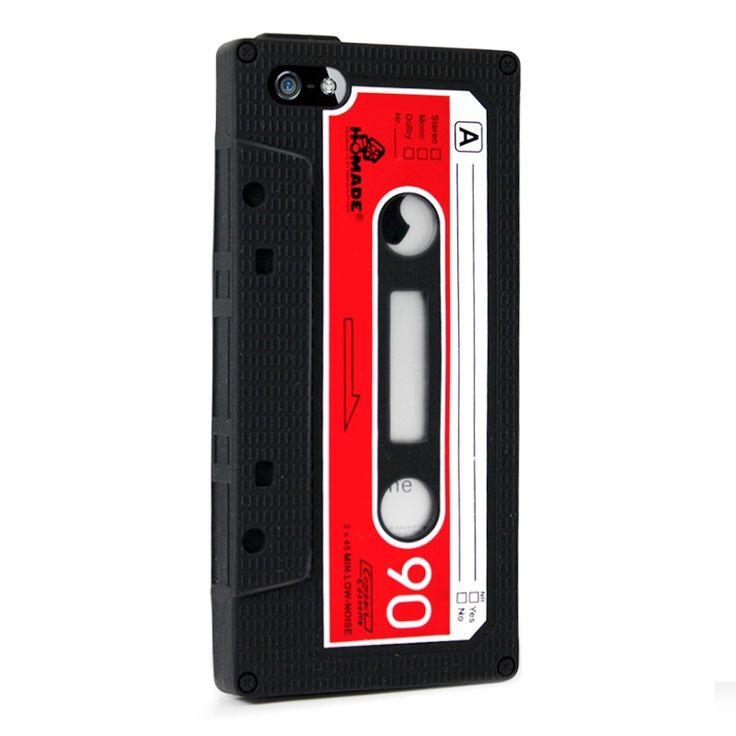 Silikonový kryt Kazeta pro iPhone 5/5s #AllCases.cz #kryt #case #sleva #iphone #iphone5 #iphone5s