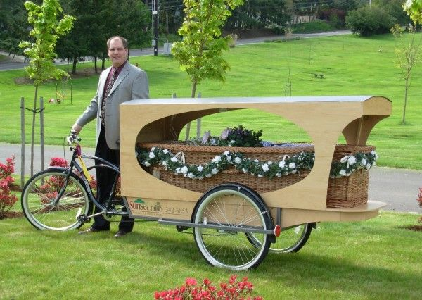 Tricycle-Hearse Best idea ever! When my time comes I expect everyone to show up riding their bikes. No cars, no exceptions. Wear your helmets, no excuses!  http://www.bikerumor.com/2013/05/19/funeral-home-lets-your-final-ride-be-one-to-the-grave-in-their-bicycle-hearse/