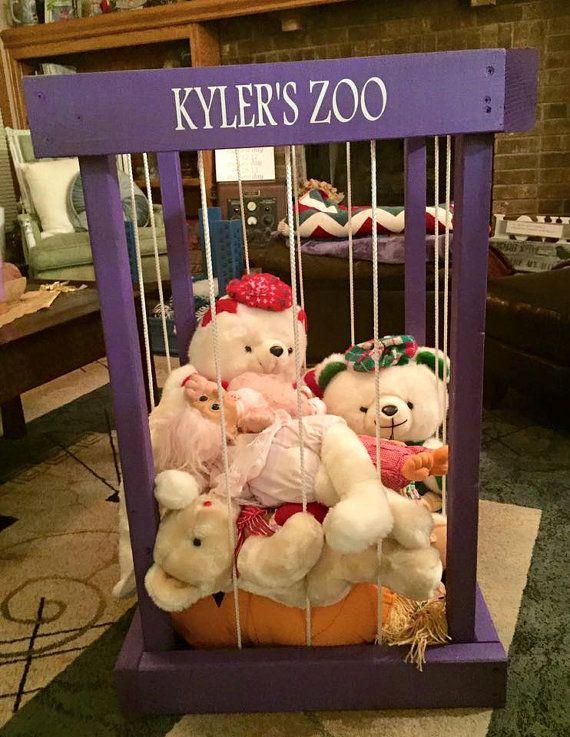 stuffed animal storage stuffed animal zoo von SandJBargainVault