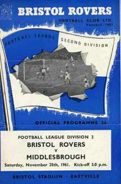 Bristol Rovers v Middlesbrough 1961