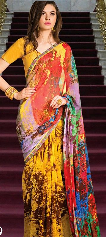 #HappyHoli collection - Introducing new #saree collection with this colorful festival.  #Partywear #Prints #India
