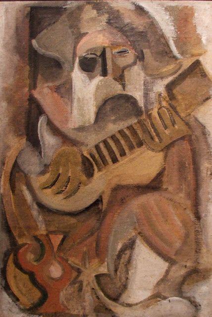 """1927, Rafael Barradas (Uruguay 1890-1929): """"El Gaucho"""", oil on cardboard, 60 x 40 cm. Museo Nacional de Artes Visuales (MNAV), Montevideo, Uruguay. (photo: Javier Fuentes)"""