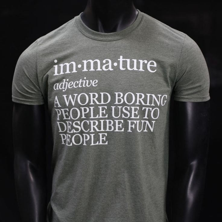 IMMATURE FUNNY COLLEGE MEME YOLO DOPE PARTY HUMOR TSHIRT NEW MENS GREEN #TShirt #GraphicTee