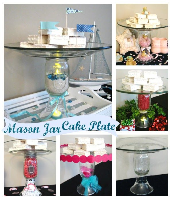 Genius!! Mason Jar Cake Plate with Endless Possibilities via HomeMadeville