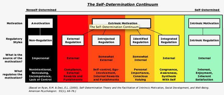 Extrinsic vs Intrinsic motivation  External demands