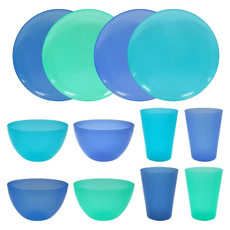 Celebrate Spring Together 12-pc. Cool Blue Dinnerware Set, Multicolor