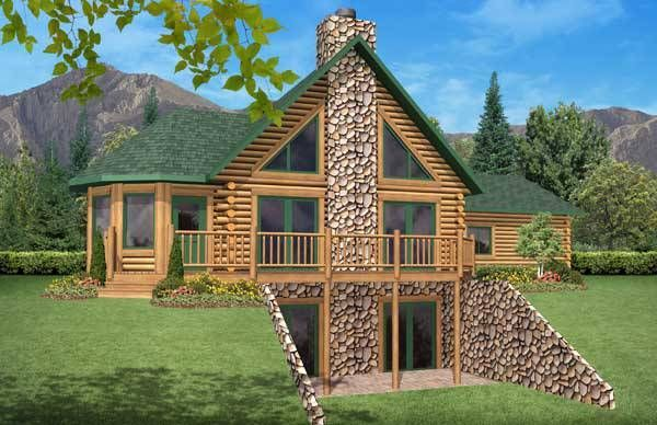 Riverview Log Cabin Plan by Golden Eagle Log & Tim…
