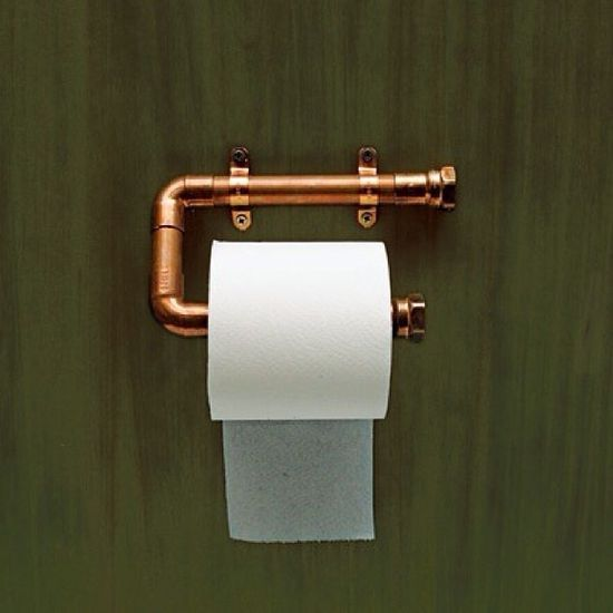 Copper Piping Toilet Paper Roll #industry design #industrial #industrial design #Industrial Design #modern industrial| http://industrial-design.mai.lemoncoin.org