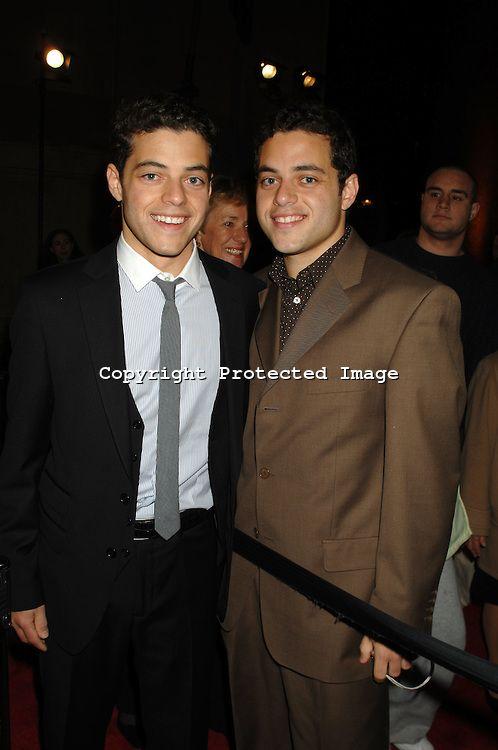 Rami Malek and twin brother Sami Malek.  Still can't believe he's a twin!