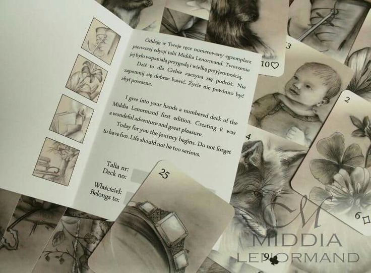 Middia Lenormand dedication card