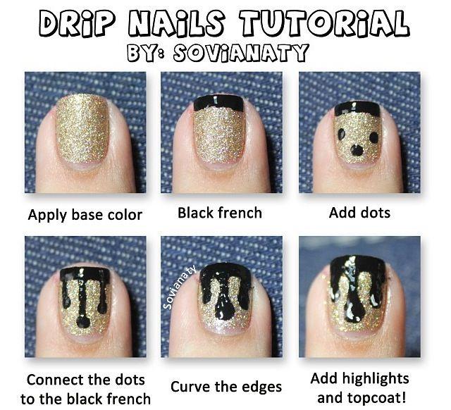 Best 25+ Drip Nails Ideas On Pinterest