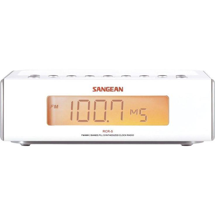 SANGEAN RCR-5 Digital AM/FM Alarm Clock Radio