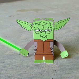 Toy-A-Day: Day 73: Yoda paper