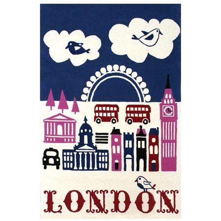 Alfombra London de 120 x 180 cm de Wovenground, multicolor