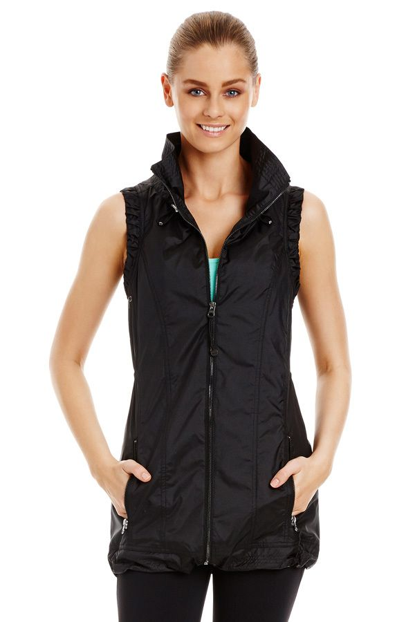 Black Sleeveless Jacket from LORNA JANE - This will take you to the gym and beyond.