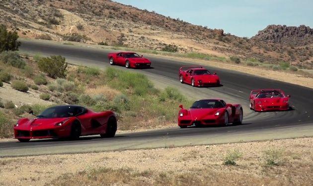 【ビデオ】「ラ フェラーリ」から「288GTO」まで、貴重なフェラーリの限定モデル5台が連なってサーキット走行! - Autoblog 日本版