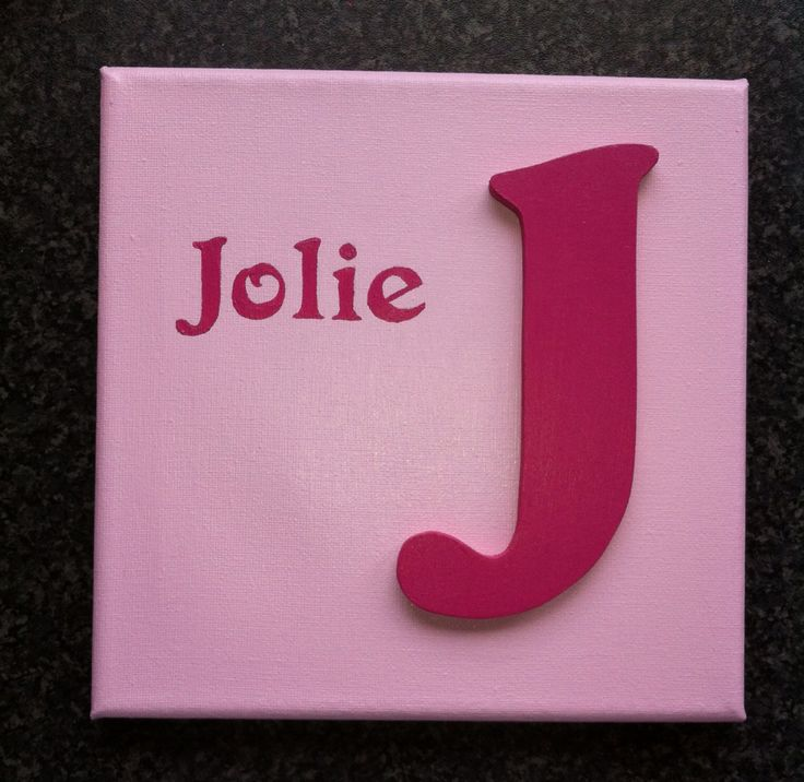Canvas with mdf letter