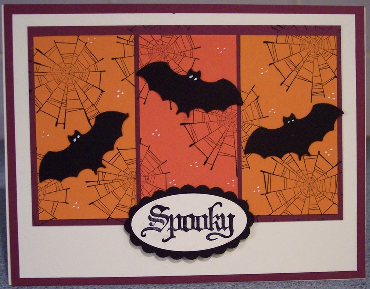 Halloween Card Making Ideas Part - 22: Halloween Bats On 3 Panels
