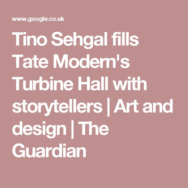 Tino Sehgal fills Tate Modern's Turbine Hall with storytellers | Art and design | The Guardian