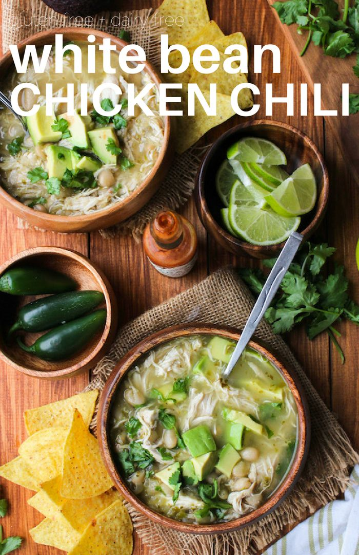 White Bean Chicken Chili Soup made in the Instant Pot | Minimal effort & clean up needed | Gluten Free + Dairy Free