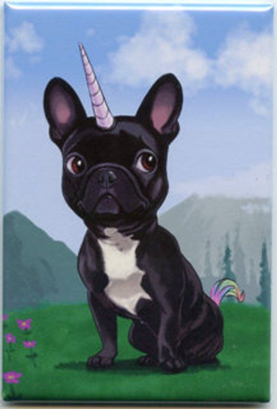 French bulldog gift, French bulldog Magnet, frenchie unicorn, cute Frenchie, frenchicorn