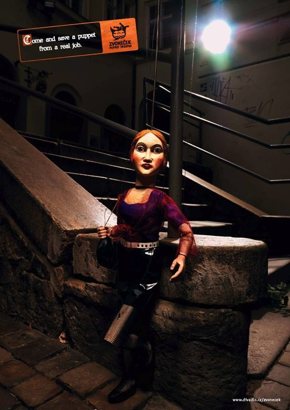 Print - puppet theater Zvonecek by Jan Houdek, via Behance