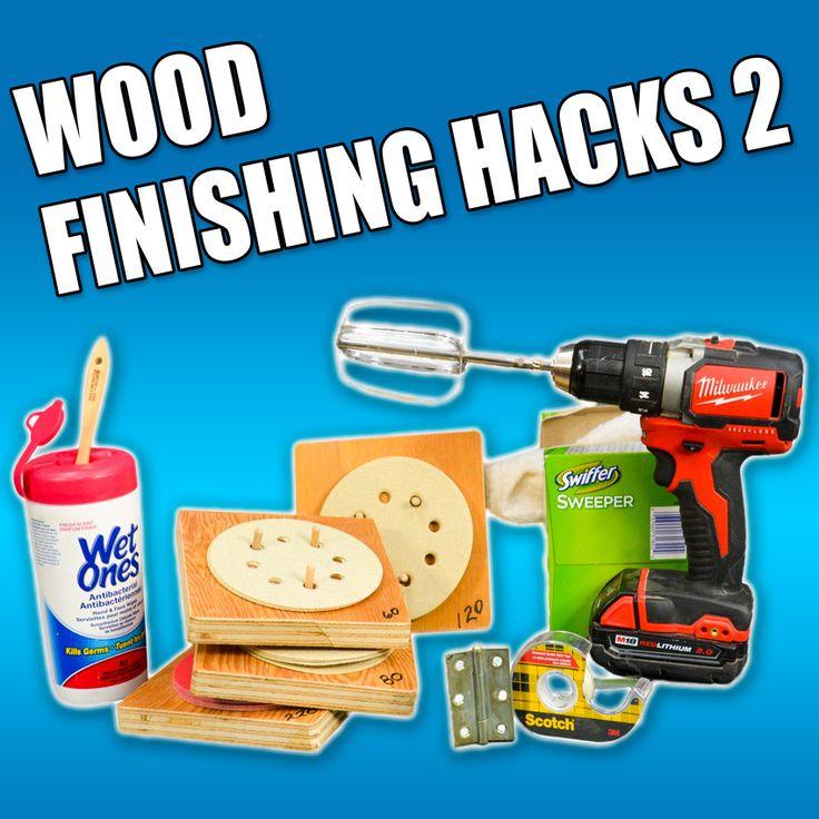 5 Quick Woodworking Finishing Life Hacks. #woodworking #lifehacks #diy