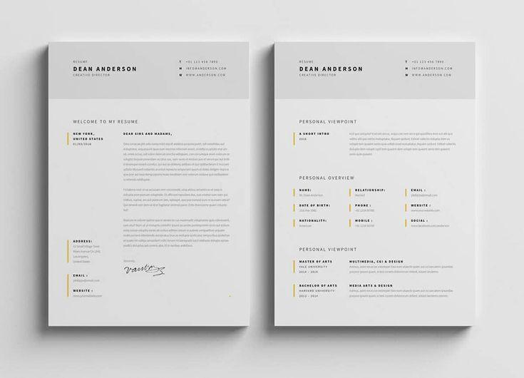 two modern resume samples